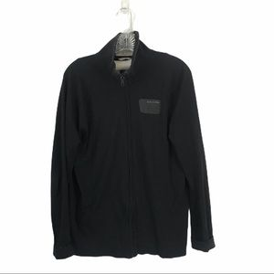 GStar XL Black Zipper Track Top